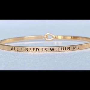 All I need is with me inspired bangle bracelet